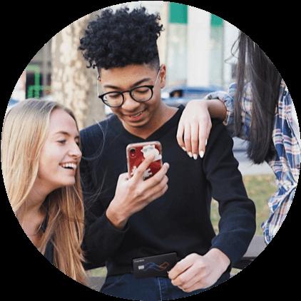 Teen downloads the Current Bank app