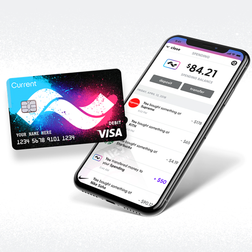 current the smart debit card for teens and parents - Visa Debit Card App